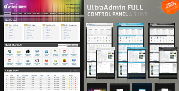 UltraAdmin Full Control Panel 4 Skins - HTML & Others :: Themeforest