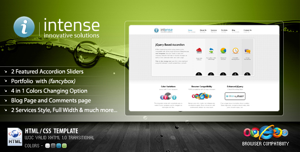Intense Business Portfolio Template 4 in 1 HTML Others – Company Portfolio Template