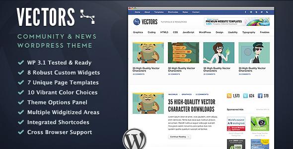 Vectors - Community WordPress Theme - Wordpress :: Themeforest