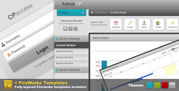 Admin Control Panel - Pro CP - HTML & Others :: Themeforest