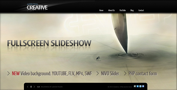 Creative Portfolio - Fullscreen background slider - HTML