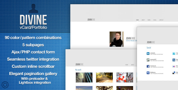 Download divine - vcard/portfolio - with ajax contact form - html & others :: themeforest.
