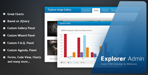 Explorer Admin - HTML & Others :: Themeforest