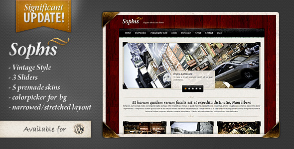 Sophis - elegant theme - Wordpress :: Themeforest