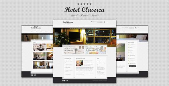 Hotel Classica - Clean Minimalist WordPress Theme - Wordpress ...