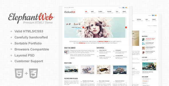 Elephant Web - Premium HTML/CSS Website Template - HTML & Others ...