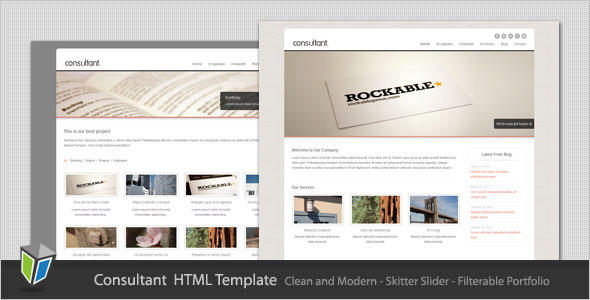 Consultant corporate business html template html others consultant corporate business html template wajeb Images