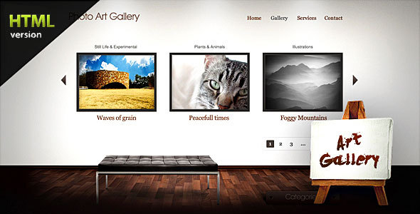 Art Gallery Website Template Free Download Kleobeachfixco - Art gallery website templates