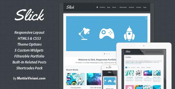 Slick Responsive Portfolio WordPress Theme - Wordpress :: Themeforest