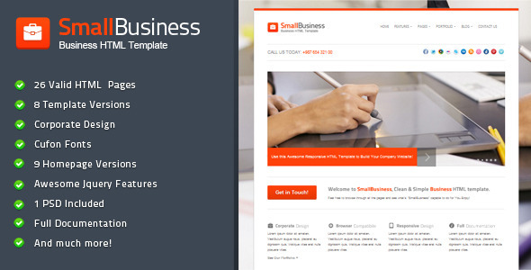 Smallbusiness business html template html others themeforest smallbusiness business html template wajeb Image collections