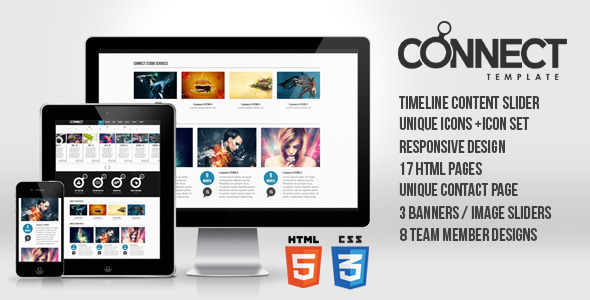 Connect Responsive Template Html5 Css3 Jquery Html Others Themeforest