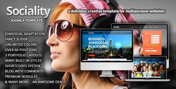 Sociality - JomSocial Ready Joomla Template - Joomla :: Themeforest