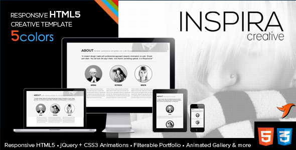 Inspira HTML5 Responsive One Page Template - HTML & Others ...