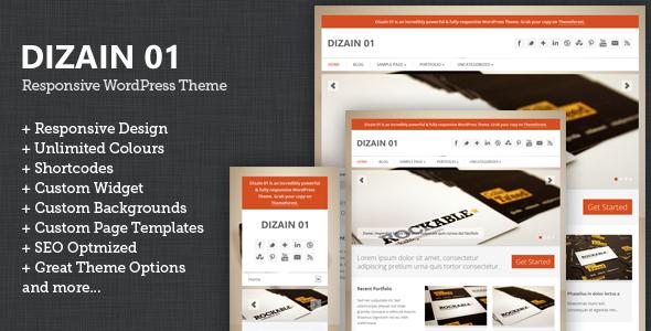 Dizain 01 responsive child theme for genesis wordpress for House get dizain