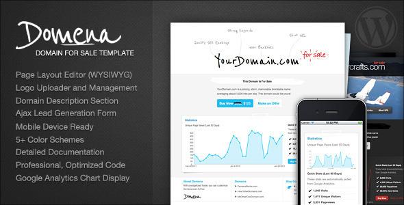domena domain for sale template wordpress themeforest. Black Bedroom Furniture Sets. Home Design Ideas