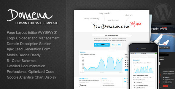 Domena Domain For Sale Template Wordpress Themeforest