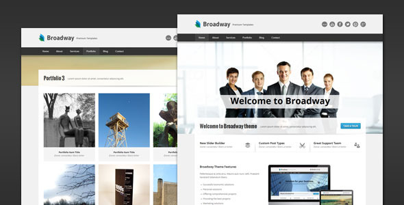 Broadway modern business html template html others themeforest broadway modern business html template wajeb Gallery