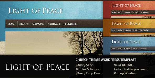 Light of Peace - Wordpress Template - Wordpress :: Themeforest
