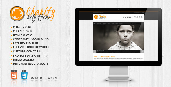 Charity HTML5/CSS3 Website Template - HTML & Others :: Themeforest