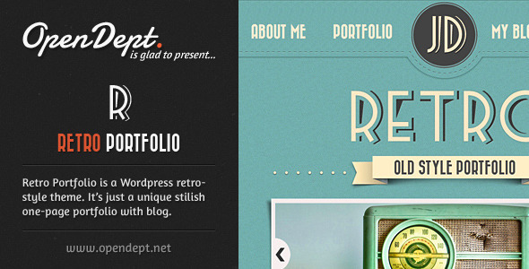 Retro Portfolio - One Page Vintage Wordpress Theme - Wordpress ...