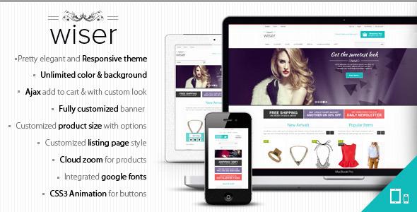 Wiser - Responsive Magento Theme - Magento :: Themeforest