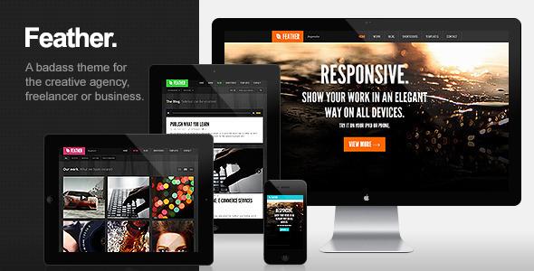 Feather - Responsive Portfolio WordPress Theme - Wordpress ...