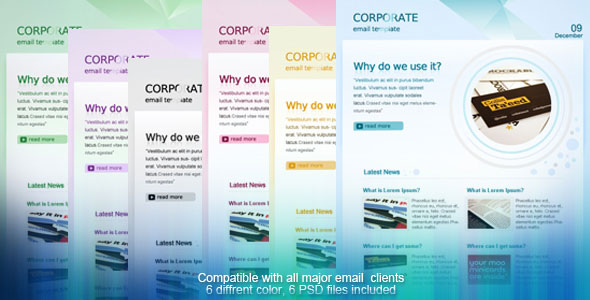 Themeforest Corporate Email Template Email Templates Themeforest