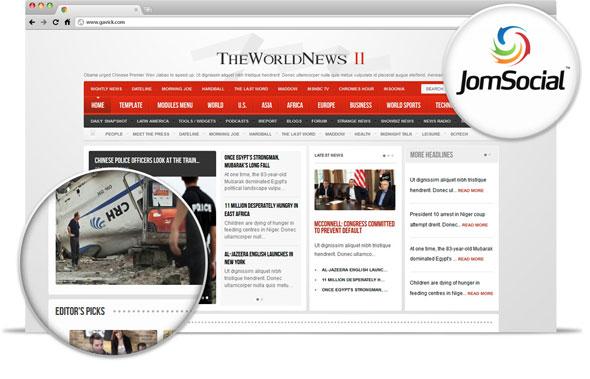 The World News II v2.10 Gavick Joomla 2.5 Template - Joomla :: GavickPro