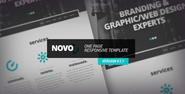 novo one page responsive template html others themeforest