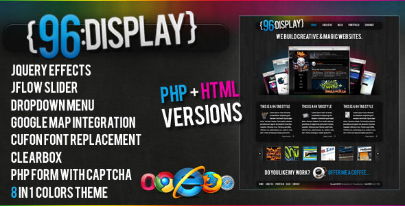 96 display themeforest html php site template html others