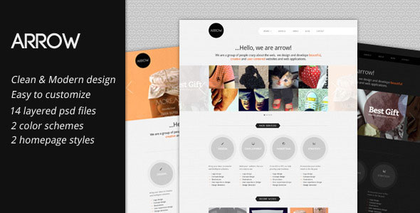 Arrow business portfolio themeforest psd template psd themeforest arrow is a clean and fresh business portfolio psd template it is very suit for your agencyportfolio site or your personal business site accmission Choice Image