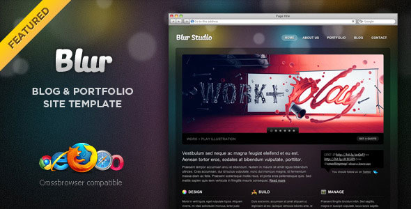 blur themeforest portfolio and blog template html others