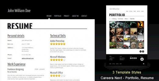 Careera Next ThemeForest Resume Portfolio HTML Template