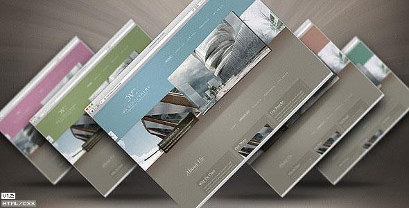 da vinci theme themeforest one page portfolio 12 skins in 1 html