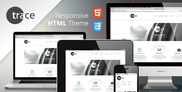 Html Responsive Template | Trace Responsive Html Template Html Others Themeforest