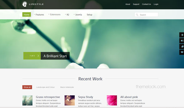 Download free joomla bamboo themes templates scripts graphics lifestyle is a stunning joomla template combining transparency bold slideshows with a healthy dose of white space it is a responsive design featuring a pronofoot35fo Images