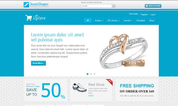 JoomShaper Shaper iStore - Joomla eCommerce Template - Joomla ...