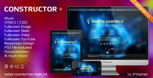 constructor responsive under construction templa html others