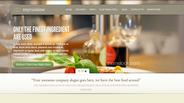 MyCuisine ElegantThemes Restaurant WordPress Theme - Wordpress ...