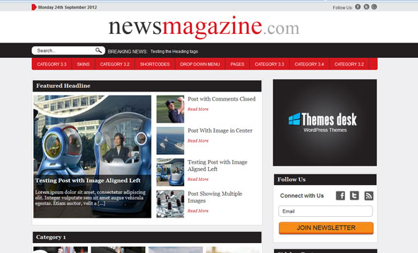 News theme themesdesk wordpress template wordpress for News site template free download