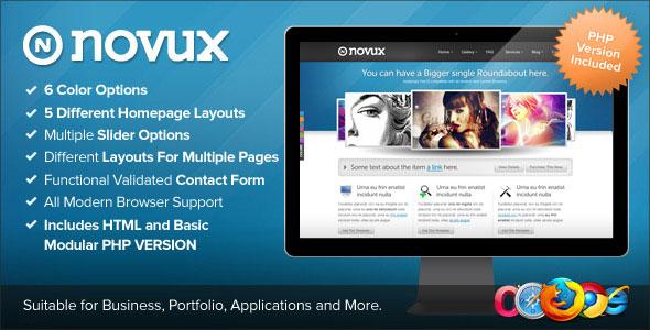 Novux HTML - Themeforest Premium HTML Template - HTML & Others