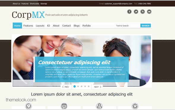 OT CorpMX - A Flexible Corporate OmegaThemes Joomla Template ...