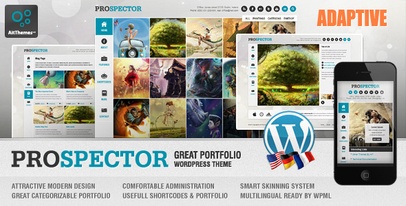 Prospector Responsive Portfolio Wordpress Theme - Wordpress ...