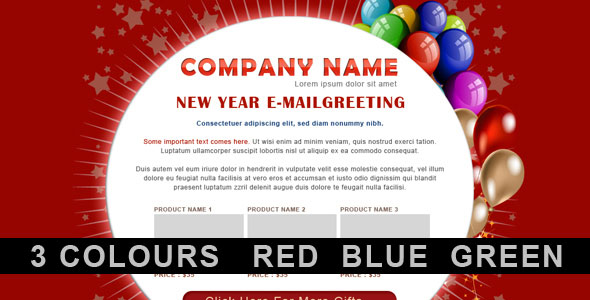 Download Themeforest New YearBirthday Greetings Email Template – Send a Birthday Greeting by Email
