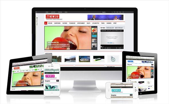 ZT News 4 - ZooTemplate Responsive Joomla News Template - Joomla ...