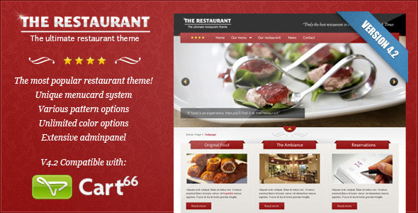 The Restaurant 4.2 - Themeforest WP Premium Theme - Wordpress ...