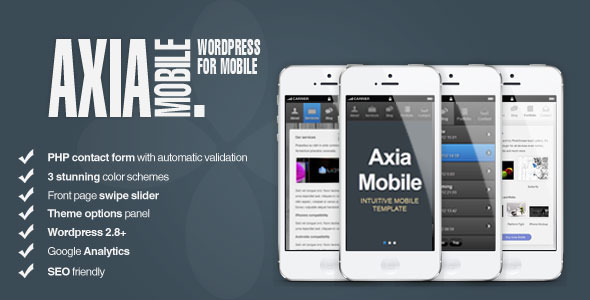 AxiaMobile - Wordpress HTML5 Template - Wordpress :: Themeforest