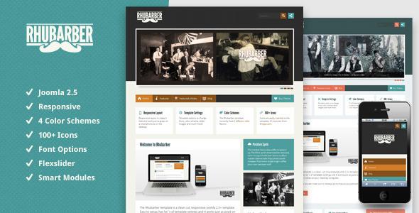 Rhubarber - Responsive Joomla Template - Joomla :: Themeforest