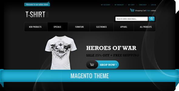 T Shirt Store Magento Theme Magento Themeforest