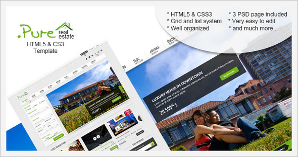 Pure Real Estate HTML5 & CSS3 Template - HTML & Others :: Themeforest